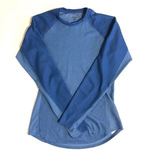 Patagonia Capiline Long Sleeve Knit Shirt blue M